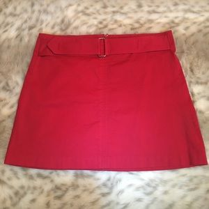 HeartSoul-Red Stretch Mini Skirt